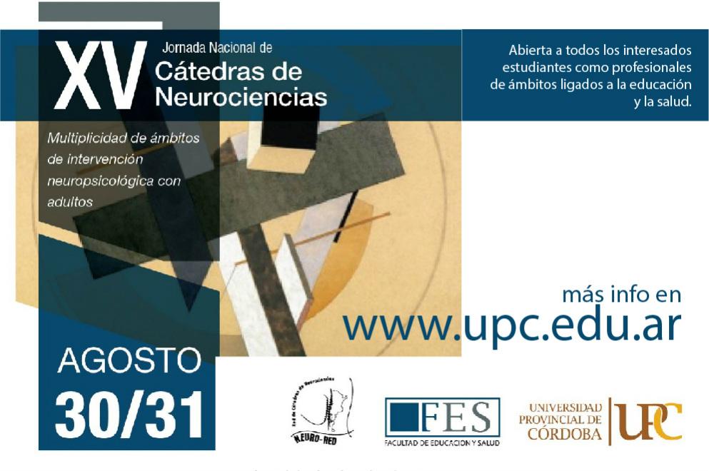 XV Jornada Nacional de Cátedras de Neurociencias