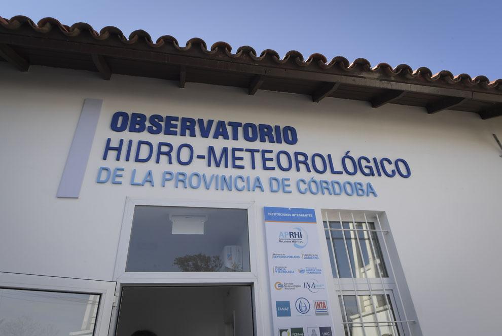 Schiaretti habilitó el Observatorio Hidrometeorológico de la Provincia