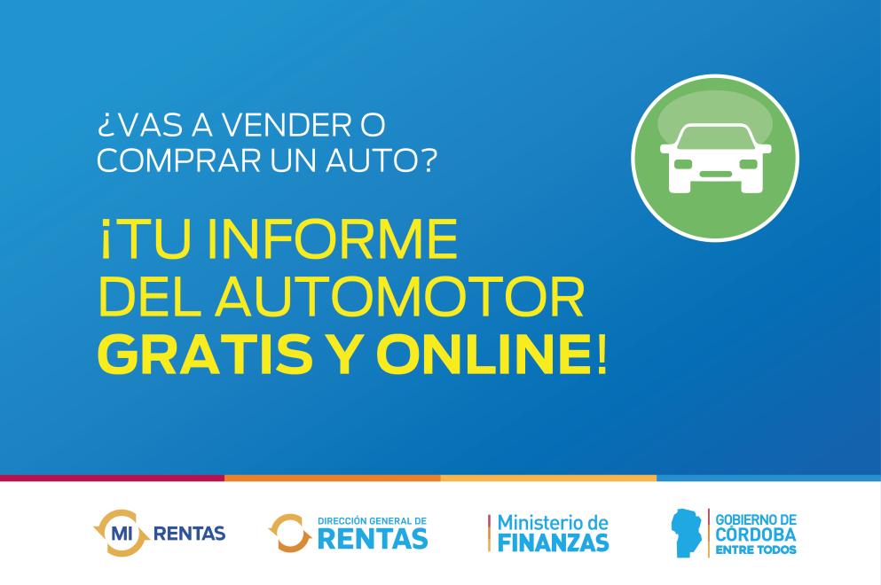 Rentas te ofrece tu informe del automotor gratis y online