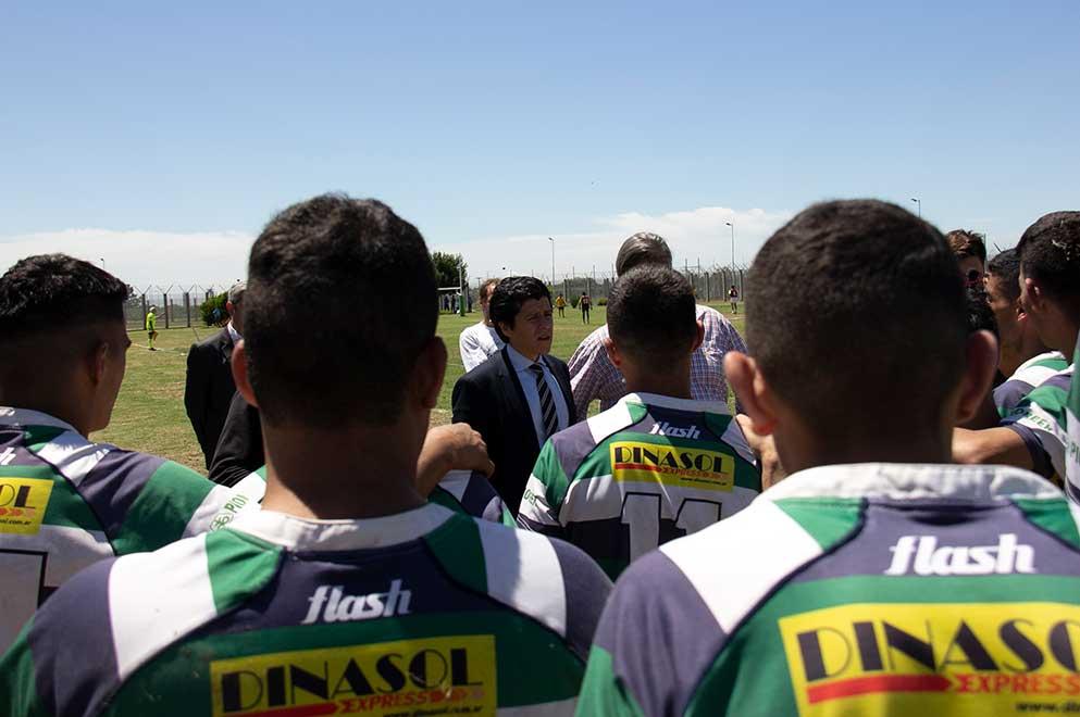 Más de 100 internos jugaron un torneo de rugby en Bouwer