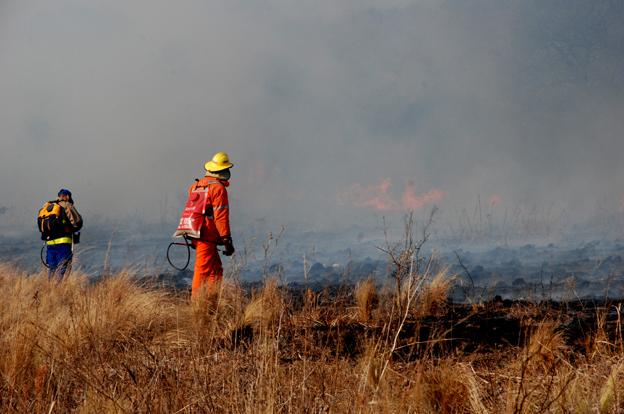 Traslasierra: Está controlado en un 75% el incendio de Las Calles. No hay evacuados