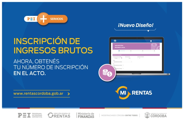 La direcci n de rentas ofrece un nuevo servicio online for Inscripcion ingresos brutos