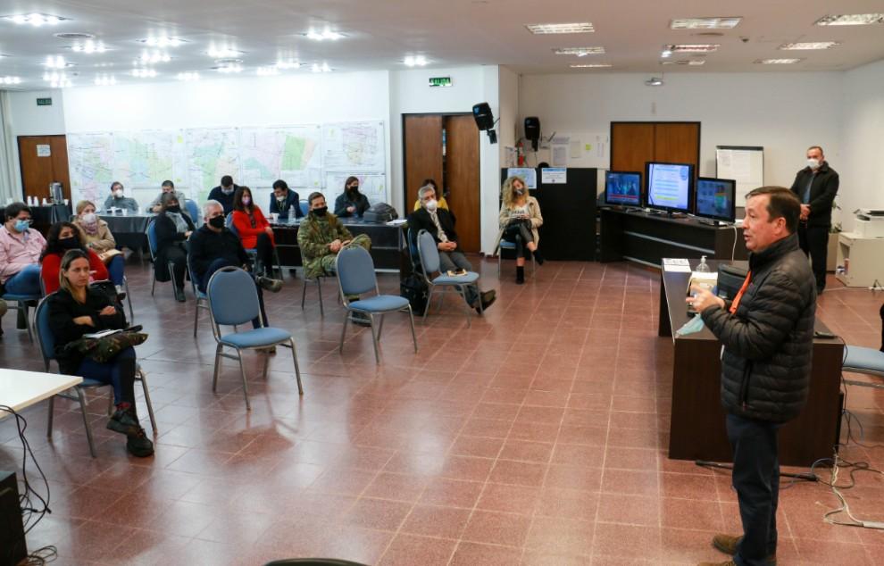 El COE capacitó en bioseguridad a instituciones sanitarias del sur provincial