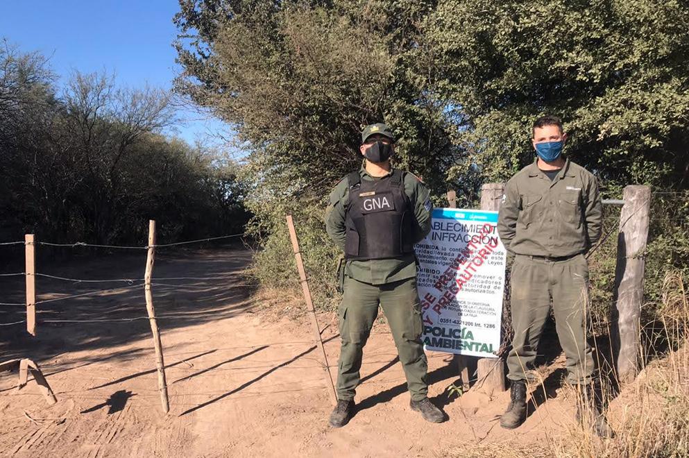 Policía Ambiental frenó desmonté en departamento de Río Seco