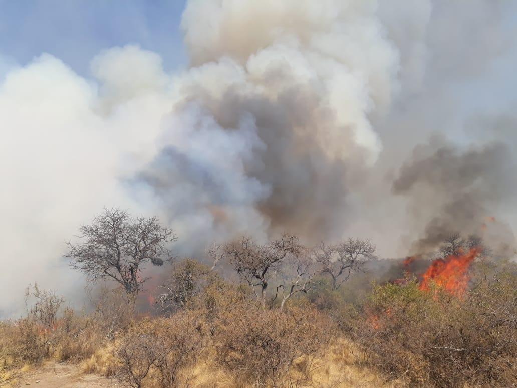 Bomberos combaten tres incendios en la provincia